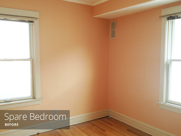 non peach color into these two rooms the kid s bedroom is the smaller