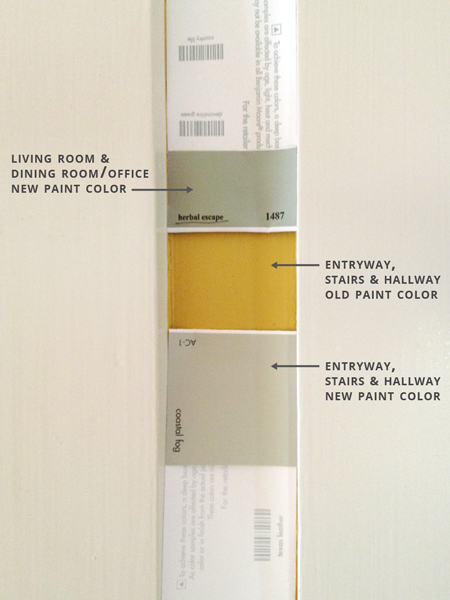 How To Paint A Hallway painting the entryway, stairs, and hallway | rather square