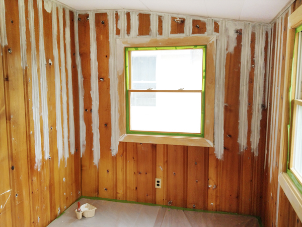 Priming Wood Paneling | Rather Square