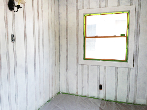 Priming Wood Paneling | Rather Square - Painting Wood Paneling: Brushes, Rollers And Beer Rather Square
