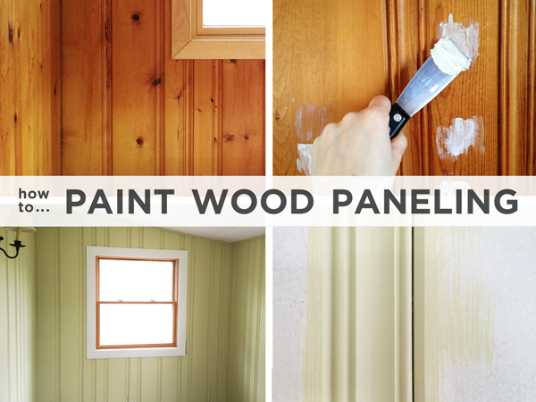 How to Paint Wood Paneling | Rather Square