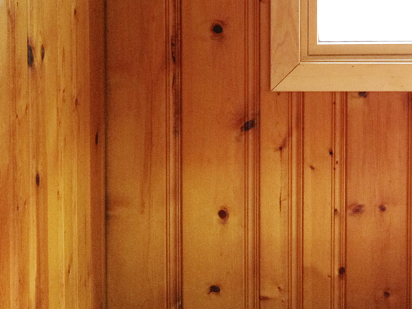 Painting Wood Paneling Knotty Or Nice Rather Square