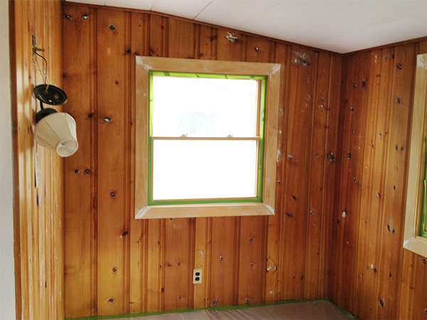 Painting wood paneling knotty or nice rather square How to disguise wood paneling