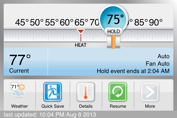 Ecobee Thermostat App | Rather Square