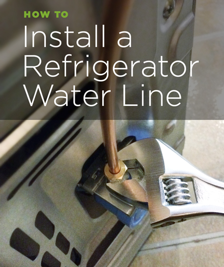 Water hookup for refrigerator
