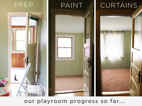 Curtains in the Playroom | Rather Square