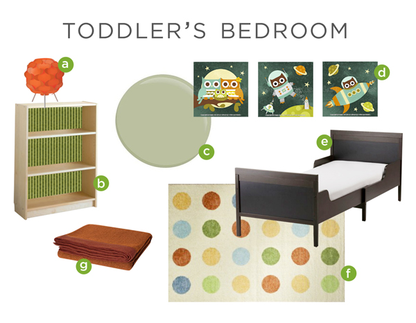 Moodboard for Toddler's Bedroom | Rather Square