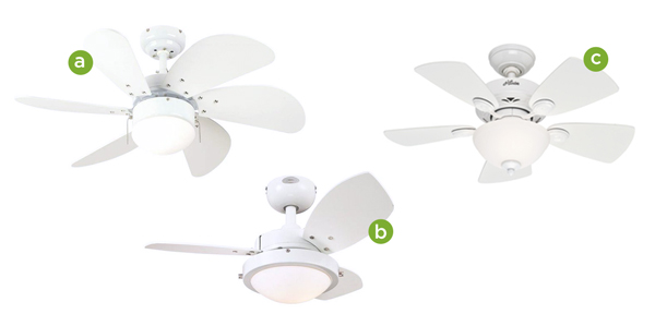 White Ceiling Fans | Rather Square