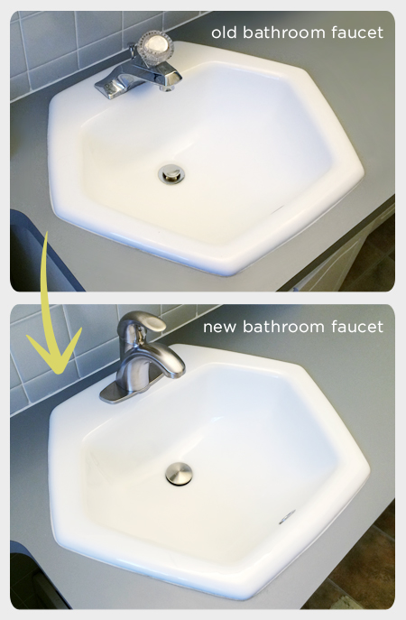 Our Budget Bathroom Update: Shedding a Teardrop Faucet | Rather Square