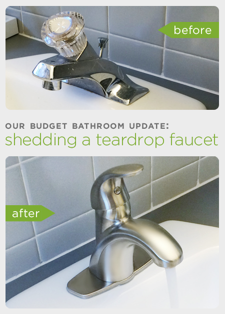Our Budget Bathroom Update Shedding A Teardrop Faucet