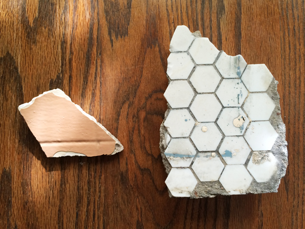 Old Stamped Plaster and Hex Tile | Rather Square