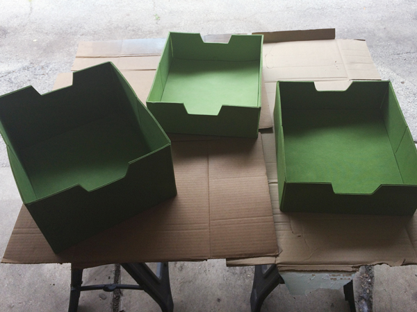 Painting Fabric Drawers for the Nursery | Rather Square