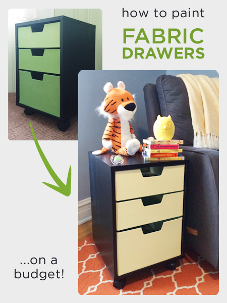 How to Paint Fabric Drawers | Rather Square