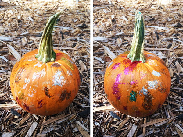 Spooky and Sparkly Halloween Pumpkin | Rather Square