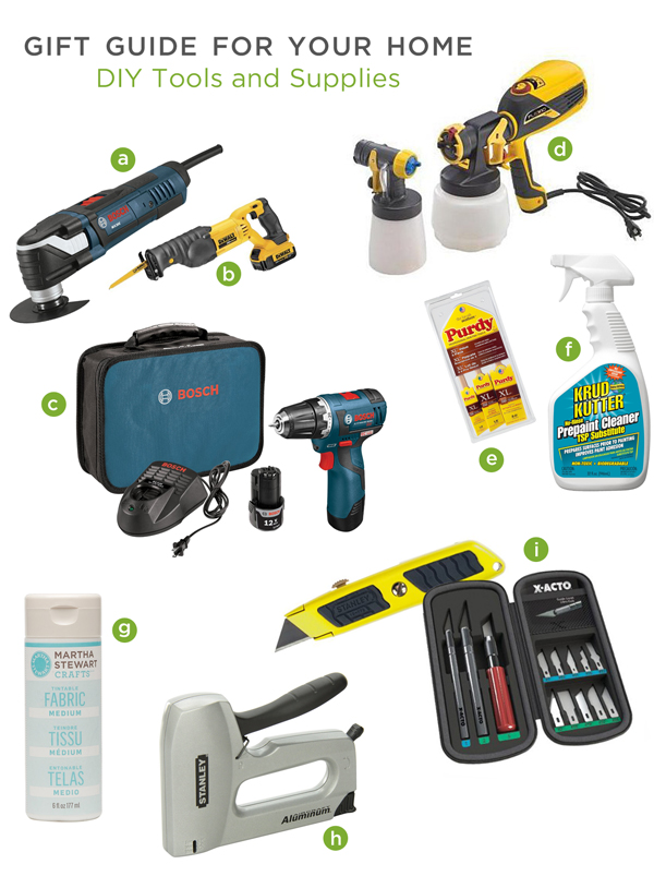 Gift Guide for Your Home: DIY Tools and Supplies