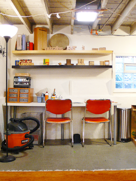 Basement Woodworking Studio | Rather Square