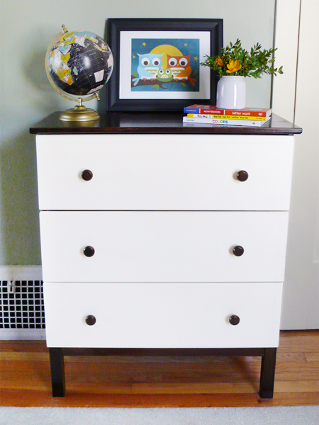 A DIY Ikea Tarva Dresser for our Modern Kid | RatherSquare.com