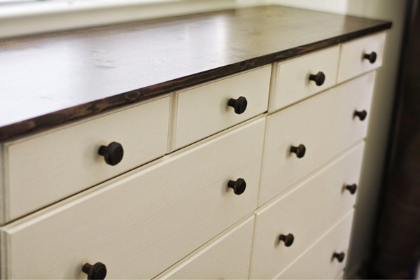 Ikea Tarva Dresser Hack from stephandben | RatherSquare.com