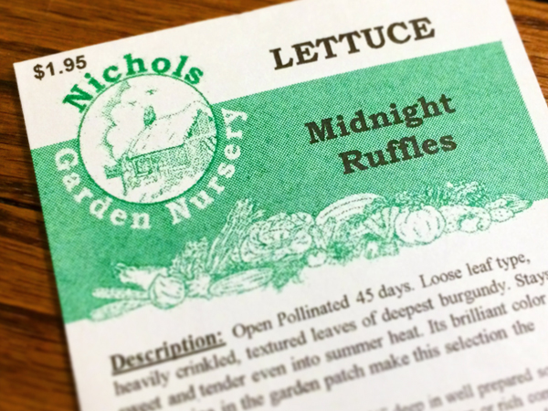 Lettuce Seeds for a Raised Bed Garden