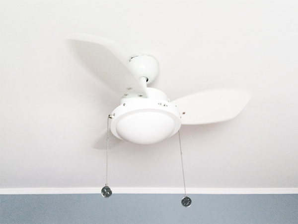White Ceiling Fan In A Nursery Rather Square